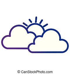 雲, 空, 太陽