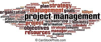 雲, 管理, プロジェクト, 単語