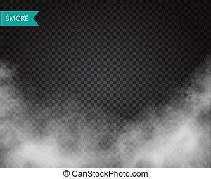 雲, 背景, ∥あるいは∥, ベクトル, 煙, 透明