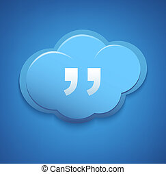雲, 計算, 概念, 印。, 青, sky.
