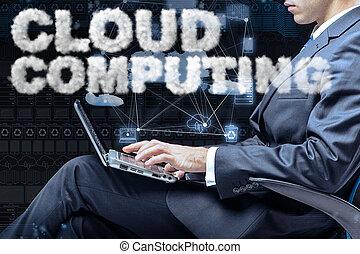 雲, 計算, 貯蔵, 中に, それ, 概念