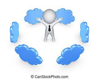 雲, 計算, concept.