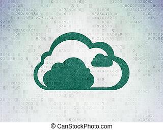 雲, 計算, concept:, 雲, 上, 數字, 數据, 紙, 背景