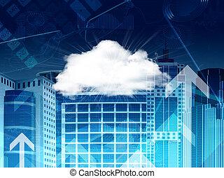 雲, 超高層ビル, そして, 矢