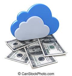 雲, 金融, 利益, 計算