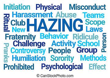 雲, hazing, 単語