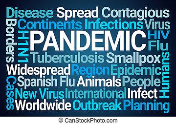 雲, pandemic, 単語