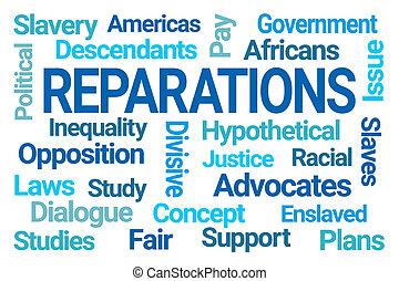 雲, reparations, 単語