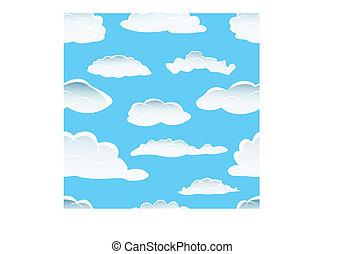 雲, seamless, 背景