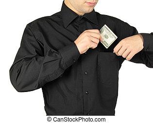 零用钱, 商人, 放, shirts'