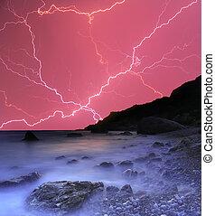 雷雨, 海洋