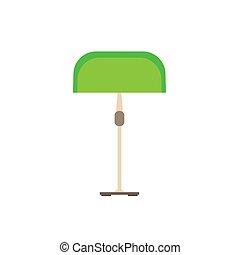 電力, シンボル, 現代, 緑, 装置, ランプ, ベクトル, デザイン, 夜, 内部, 明り, icon., 技術, 家具