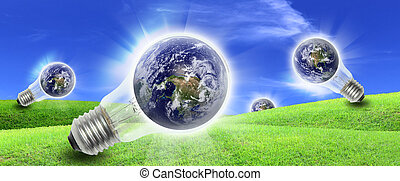電力, 農場, エネルギー, 産物, 電球, 世界