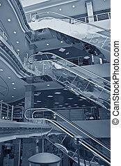 電動扶梯, 在, 商店