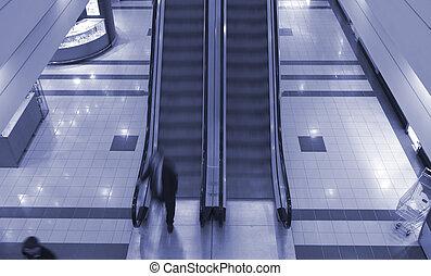 電動扶梯, 在, 購物中心