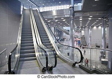 電動扶梯, 在, the, 商業中心