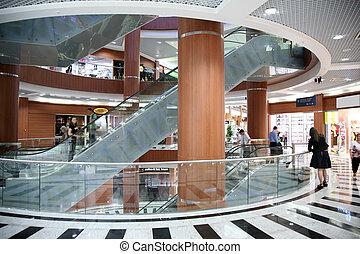 電動扶梯, 在, the, 貿易中心