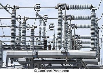 電圧, insulators, 高く