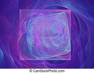 電子ブルー, 抽象的なデザイン