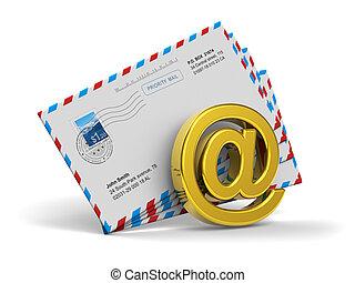 電子メール, そして, インターネット, メッセージ, 概念