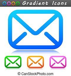 電子メール, アイコン, シンボル, デザイン, ベクトル