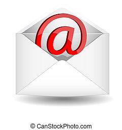 電子メール, シンボル, 封筒
