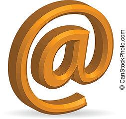 電子メール, シンボル, 3d