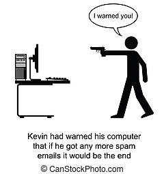 電子メール, スパムしなさい