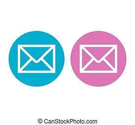 電子メール, デザインを設定しなさい, アイコン
