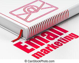 電子メール, ビジネス, マーケティング, 本, 背景, 白, 電子メール, concept: