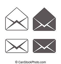 電子メール, ベクトル, アイコン