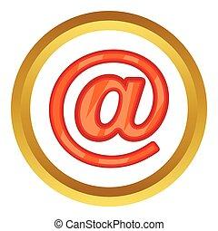 電子メール, ベクトル, 印, アイコン