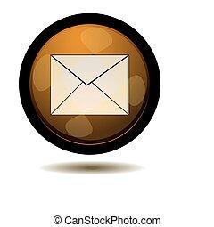 電子メール, ボタン, 網