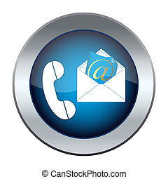 電子メール, ボタン, 電話