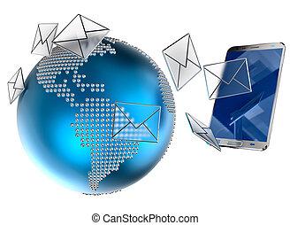 電子メール, モビール, sms, 電話, ∥あるいは∥, 送られた