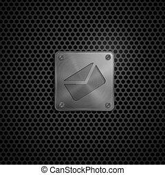電子メール, 金属, texture., 印