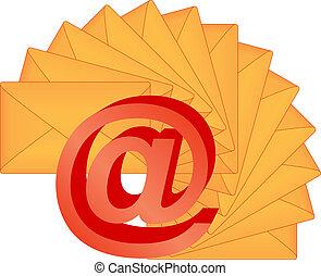 電子メール, 3d, 印