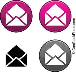 電子メール, button.