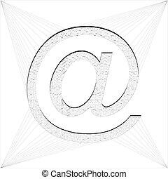 電子メール, www, 印, 捕えられた