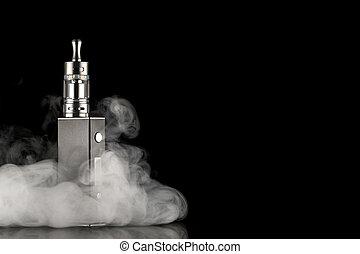 電子, タバコ, 上に, a, 暗い背景
