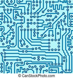 電子, デジタル, サーキットボード, -, seamless, ベクトル, パターン
