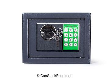 電子, 家, 安全。