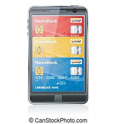 電子, 概念, 買い物, 支払, インターネット