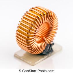 電子, microcoil, 被隔离, 在懷特上, 基礎