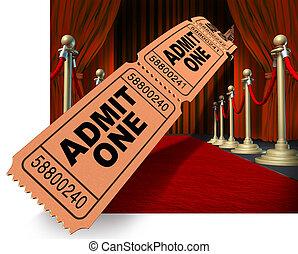 電影, 夜晚, 紅的地毯