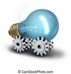 電気である, 産業