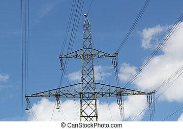 電気である, 空, パイロン, 曇り