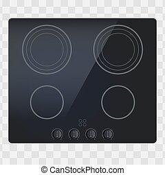 電気である, 表面, 暖炉内部の棚, inductive