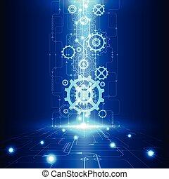 電気である, 遠距離通信, 抽象的, 工学, ベクトル, 背景, 未来, 技術