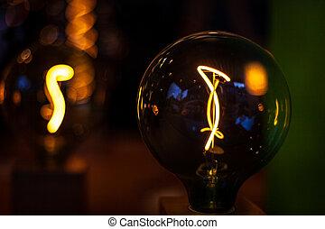 電気である, 電球, 内部, ライト